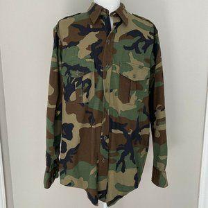 Vintage LL Bean Mens Camouflage Shirt Size M